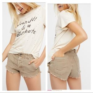 Free people raw & patched shorts